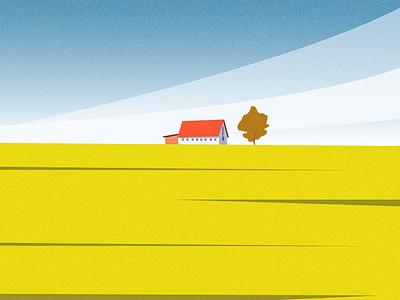 Farm House illustration art digital art cloud sky mountain tree vector landscape design landscape design srabon arafat illustration