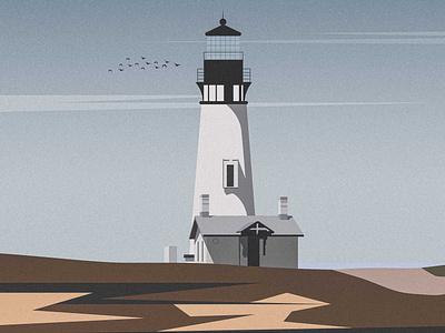 Lighthouse texture digital illustration digital art lighthouse sea sky cloud sun flying bird vector landscape design landscape design srabon arafat illustration