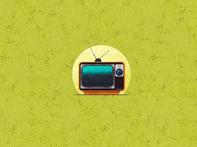 90s TV texture vintage old televison vector landscape design landscape design srabon arafat illustration illus