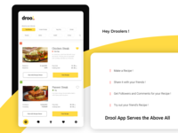 Drool - Food Recipe Chat App