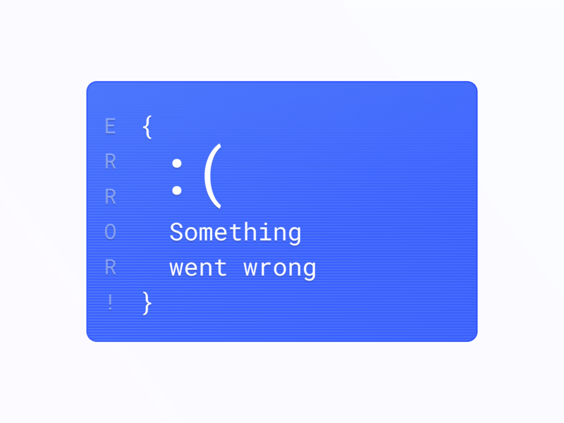 :( error