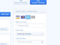 Add Credit / Debit Card