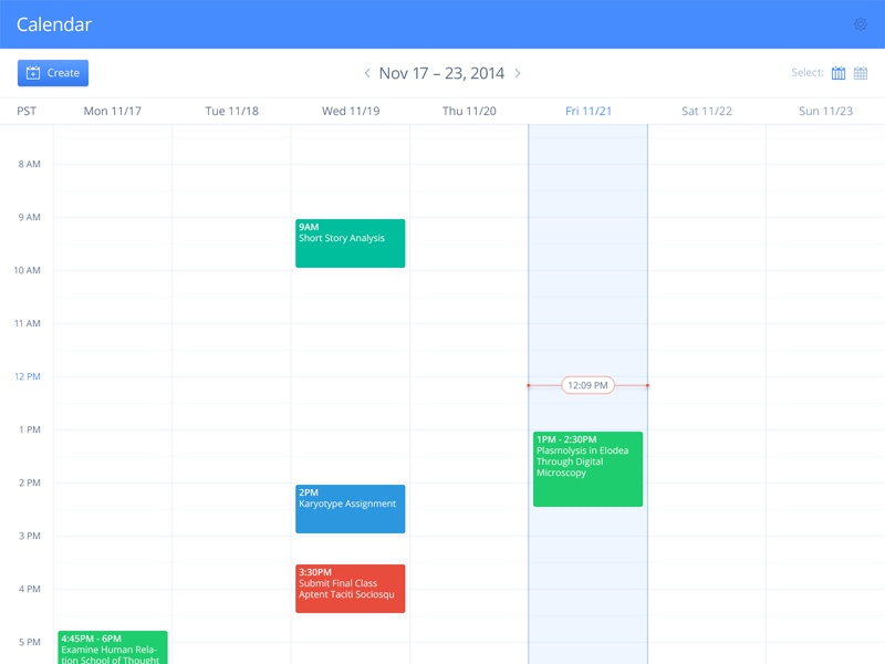 Weekly Calendar Ui : Calendar week view by derek clark dribbble