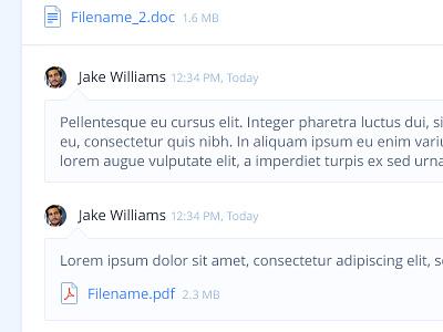 Comments, Files, etc. lipsum timestamp doc pdf icons files avatar comment
