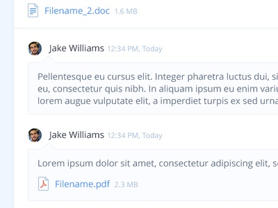 Comments, Files, etc. lipsum timestamp doc pdf icons files avatar comment