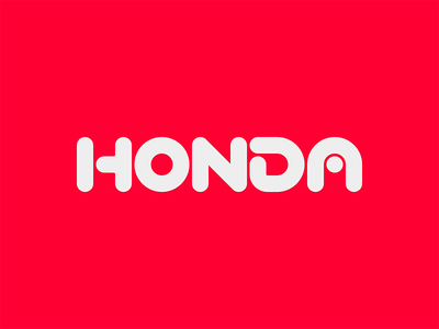 HONDA unsolicited redesign identity branding logo red nippon japan honda