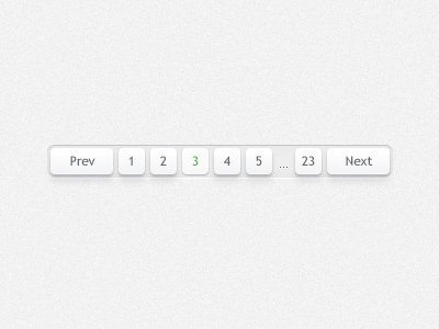 Pagination pagination ui clean white button interface web element previous next