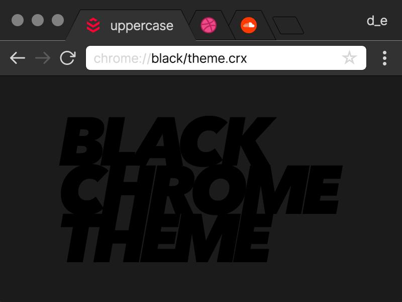 Black Chrome Theme (free) by Derek Clark on Dribbble