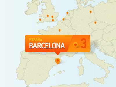 Map Marker map marker ui europe uk barcelona spain espana orange pin