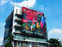 Outdoor advertisement building billboard mockup psd