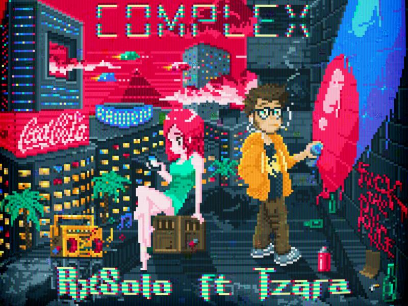 RxSolo ~ INFERIOR COMPLEX tv games tzara rxsolo racism depression dystopia future retro pixelart pixel art pixel