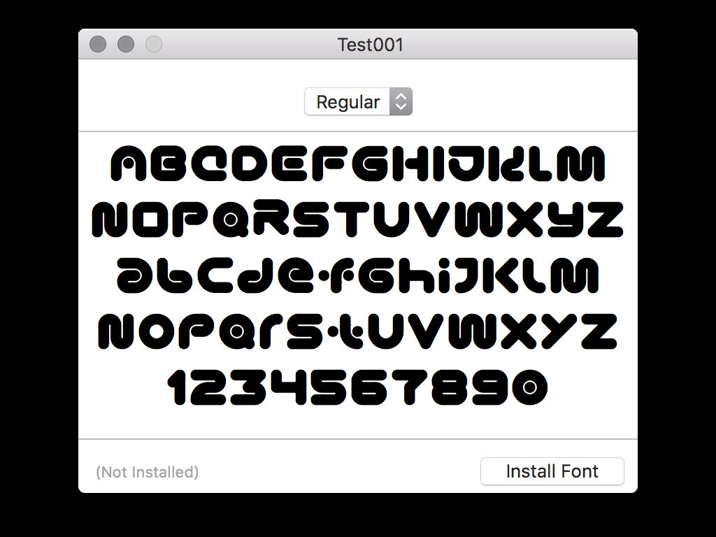 New Font ono-sendai future neo type test font
