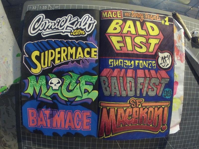 #INKTOBER Day 22: ComicKult.com blackbook ink drawing comics comickult sf mace inktober2018 inktober ink