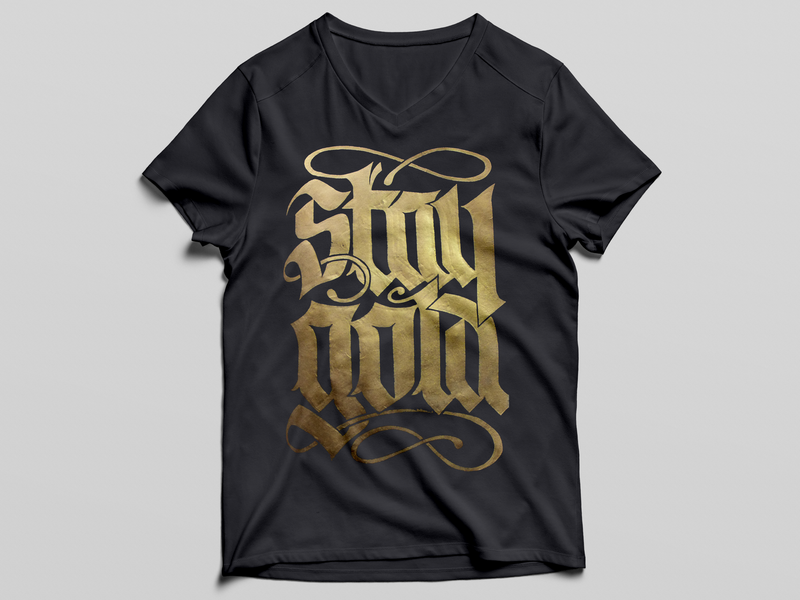 STAY GOLD typography black gold apparel tshirt stay gold rtj run the jewels store clothing tee