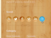 Social Icons on Wood