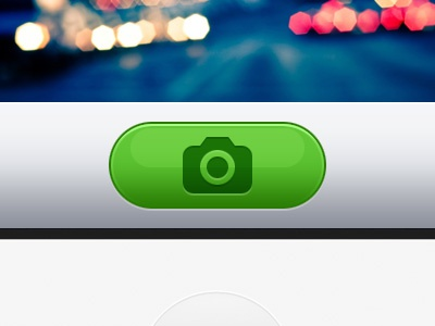 Green camera button retina