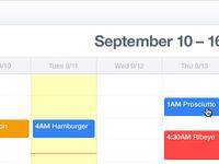 Week View ~ Complete Calendar