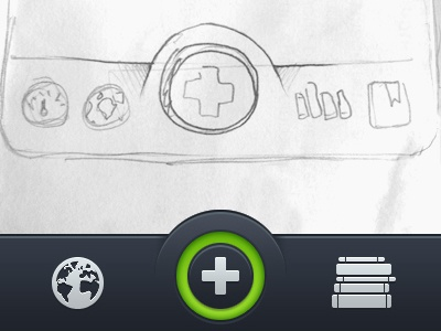 iOS Navigation sketch ios ios6 plus navigation icons iphone nav ux ui interface retina
