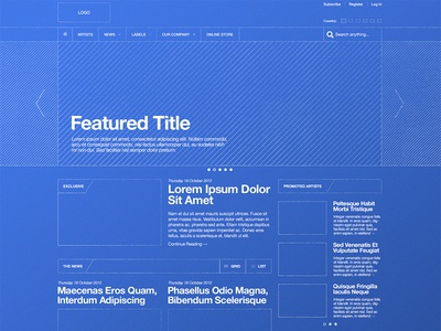 Blueprint / Wireframe ui ux navigation texture website interface attachment sketch wireframe enhance helvetica blueprint spectrum layout pattern feature pitch retina