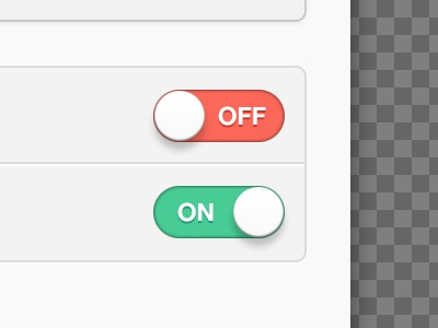 Custom ON/OFF Toggle Switches on off toggle switch interface ui ux apple ipad custom clean button gui tablet app ios @2x retina
