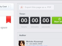 Bookmark, timer, interface...