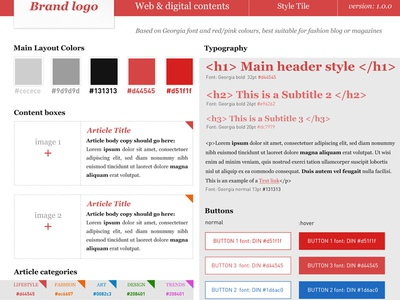 Blog Styletile colors styles cta design ui styletile blog