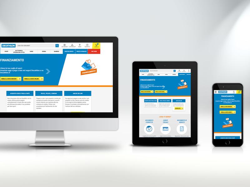 Decathlon services HTML+CSS responsive framework brand company responsive design uiux ui web design
