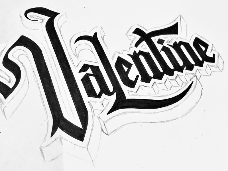 Valentine typography