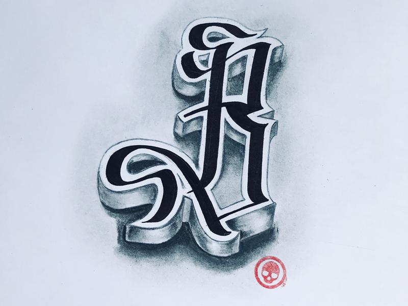 B. typography calligraphy