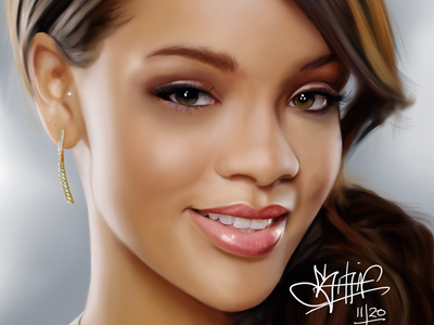 Robyn Rihanna Fenty digitalart