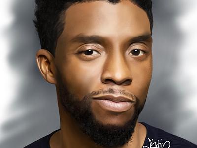 Chadwick Boseman practice jonathansophie realism chadwickboseman portrait digitalart