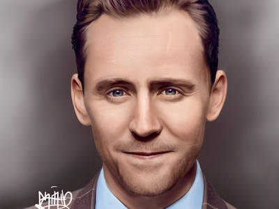 Tom Hiddleston marvel tomhiddleston loki illustration portrait digitalart
