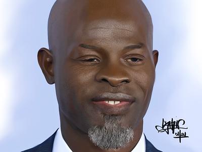 Djimon Hounsou djimonhounsou illustration realism digital portrait