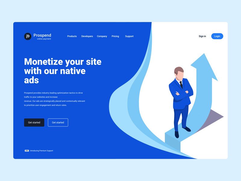 Prospend ui  ux branding illustration web design