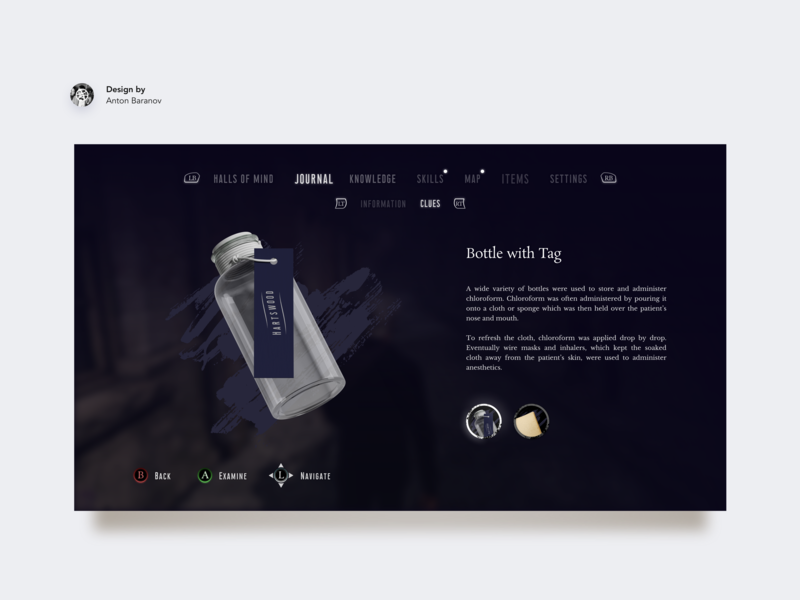 Clue Menu for detective adventure game 👀#1 by Anton Baranov on Dribbble