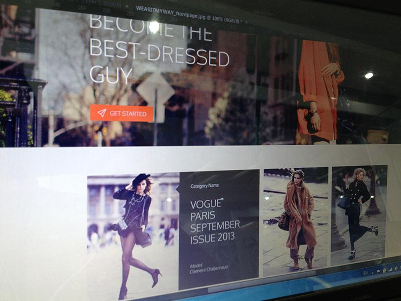 WearItMyWay fashion website fashion flat webdesign ui ux women orange