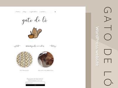 Wordpress Theme - Gato de Ló website wordpres blog design