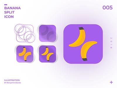 Daily UI 005: Banana Split Icon Exploration app icon design dailyui