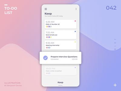 Daily UI 042: To-do List app to do list to do mobile ui design dailyui