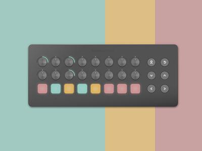 Launch Control Neumorphism Test hardware music controller synth neumorphism skeuomorphic novation design