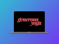 Generous Yoga Logo