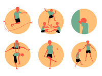 Filipino Street Games Icon Set icon design icon set icon illustration