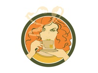 Icon for Green Tea icon design illustration