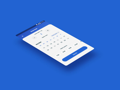 WeSwim Booking App Interactions android hour calendar date experience user experience user ux uiux ui application ui interface application app reservation booking aqua swimmingpool swimming weswim