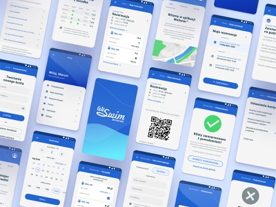 WeSwim Booking App design picker date hour aqua weswim swimmer pool swimming reservation booking calendar user experience ux interface ui application app android