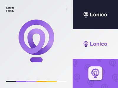 Lonico Logo ux ui gradient design icon balloon brand identity web credit technology fintech tech finance loans vector logo brand application branding app