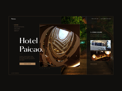 Hotel Paicao — UI  Concept landing page web ux branding elegant classic quality modern luxury tropical realestate interior reservation booking hotel experience interface ui