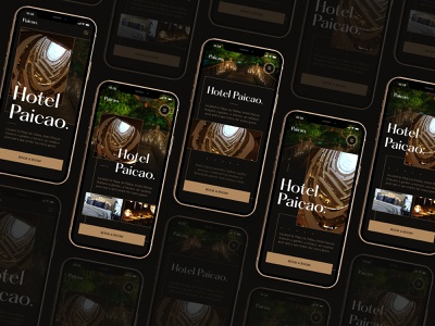 Hotel Paicao — Mobile Explorations web hotel app night modern luxury gallery reservation tropical client customer user experience grid layout room hotel booking ux ui interface