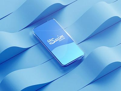 WeSwim™ Logo - Splash Screen typography design booking water swimming pool aqua blue brand book presentation ui interface intro splash screen brand branding logo vector 3d