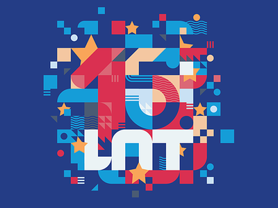 15 years of Poland in EU anniversary magazine member vector design royal book report politic cover illustration letters number chaotic composition mosaic europe union european union 15 years